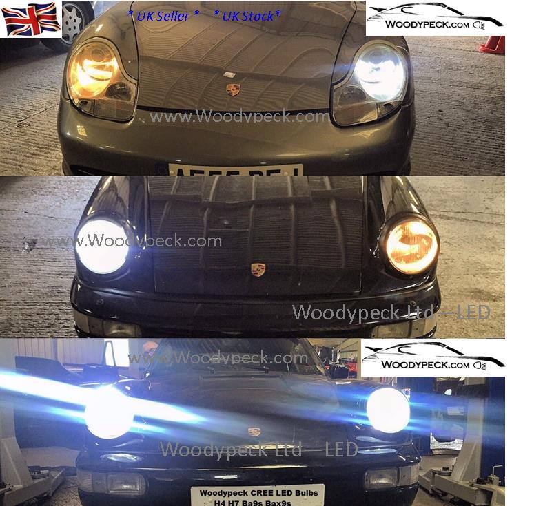Porsche 996 Headlamp Bulb: BaX9s H6W LED Side Light Bulbs